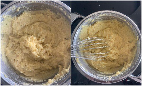 preparazione crostata di polenta