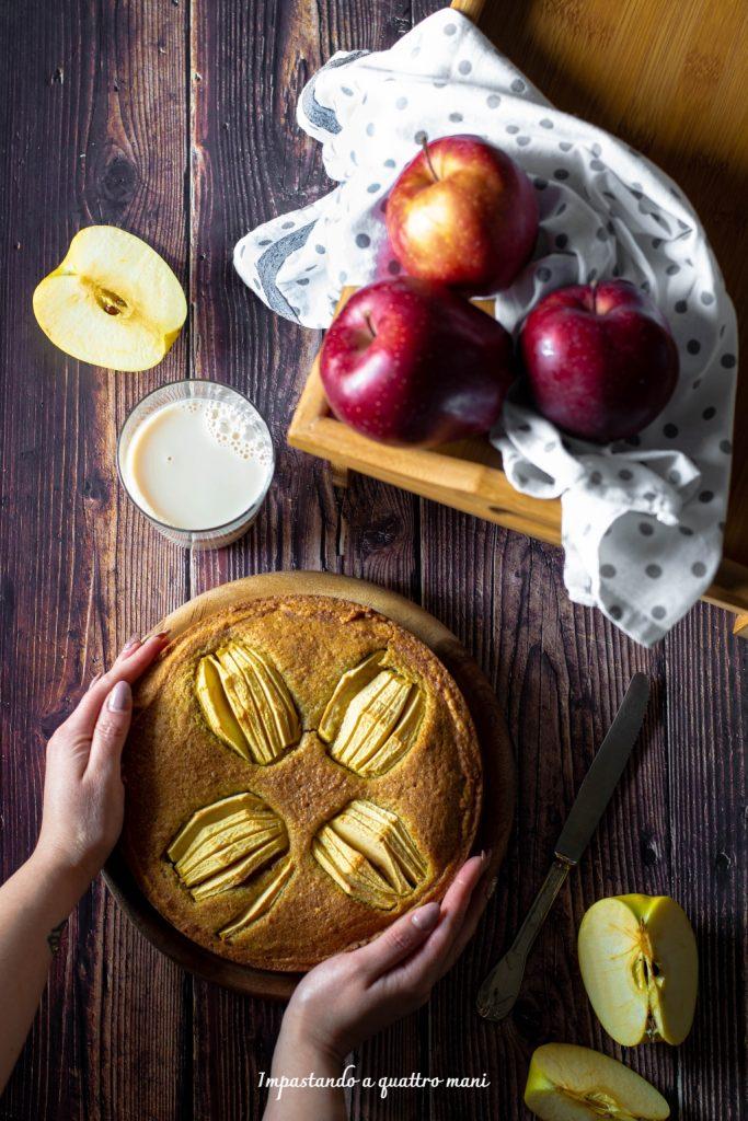 crostata con frangipane alle nocciole e mele
