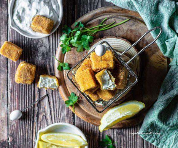 saganaki, feta fritta greca