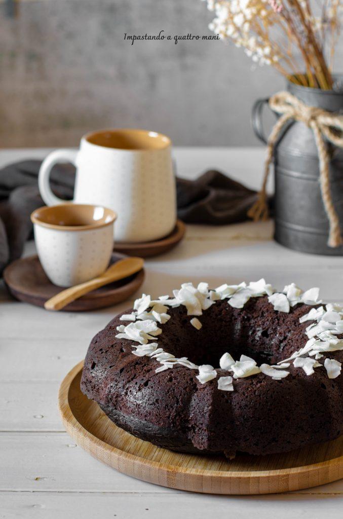 torta matta cocco e cacao, vegan
