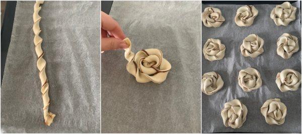 preparazione girelle di sfoglia alla nutella