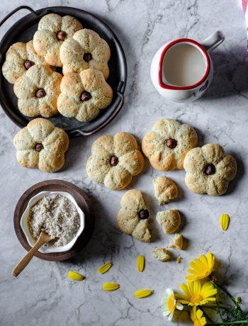 biscotti fiore alle mandorle