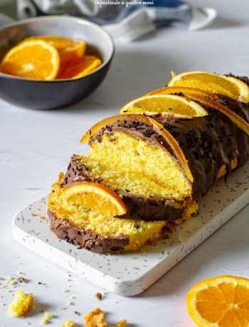 plumcake senza lattosio arancia e cioccolato