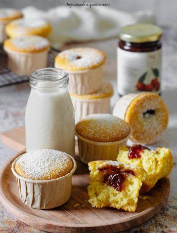 muffin soffici e ripieni con confettura di ciliegie che non scende sul fondo