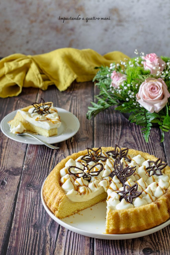 crostata morbida con namelaka al cioccolato bianco