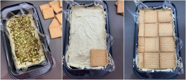 preparazione mattonella gelato al pistacchio senza gelatiera