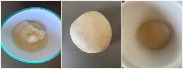 preparazione pan brioche vegan