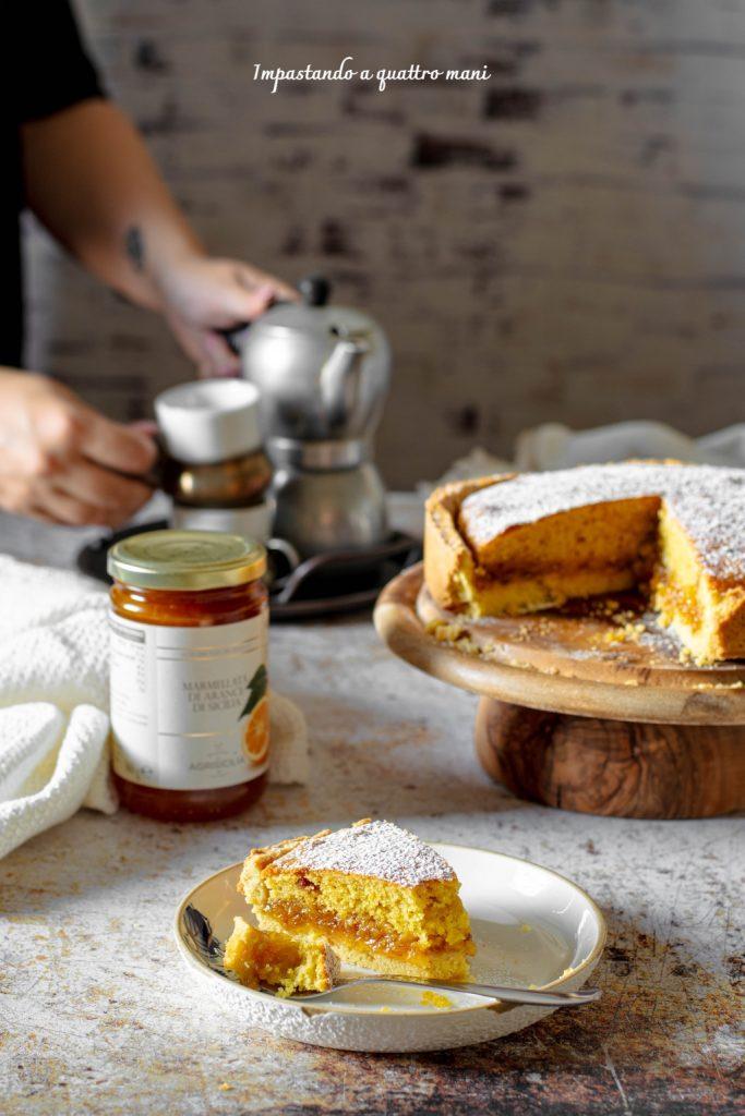 torta crostata alla marmellata